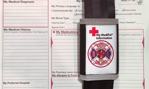 Medipal information card for Bayou Gauche Volunteer Fire Department