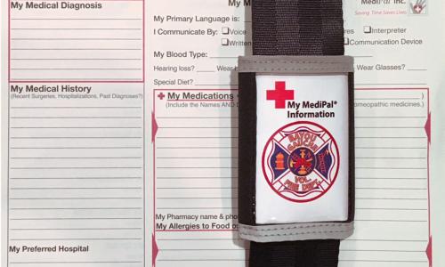Medipal information card for Bayou Gauche Volunteer Fire Department
